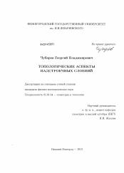 Топологические аспекты надстроечных слоений скачать бесплатно  Диссертация по математике на тему Топологические аспекты надстроечных слоений